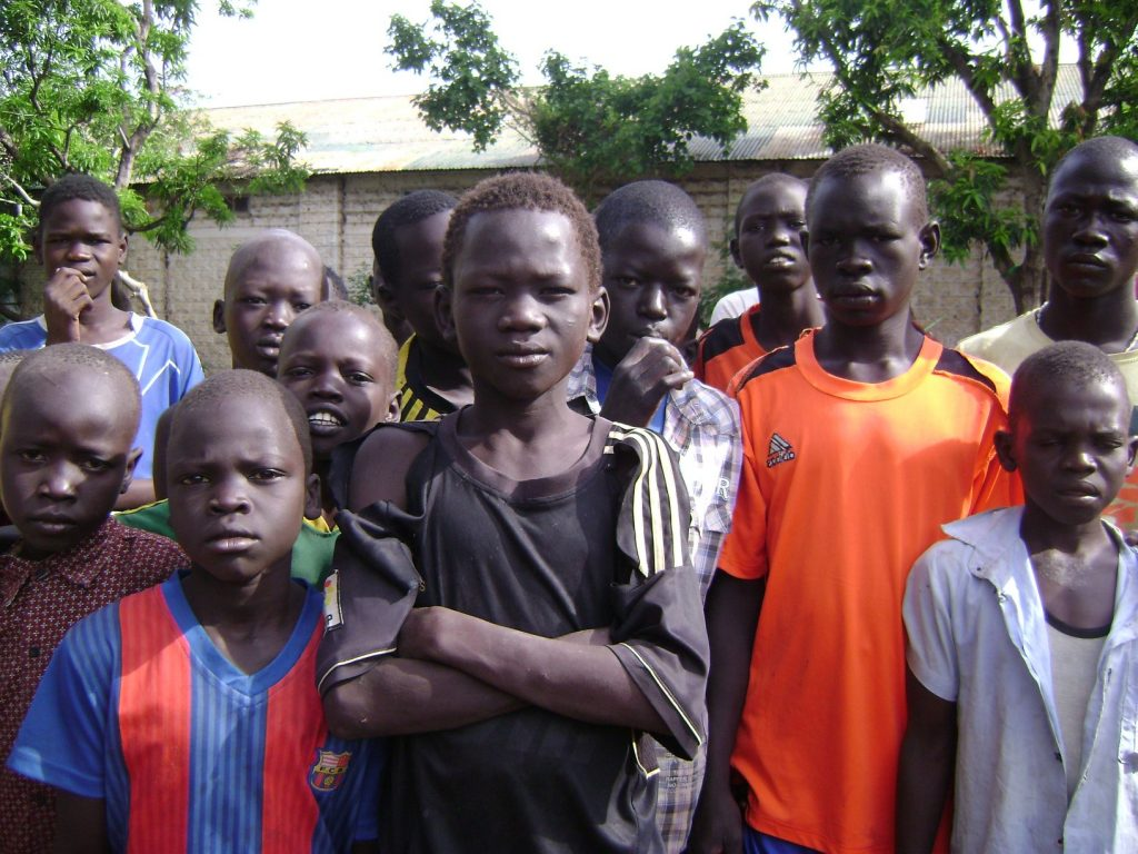 Children at the orphanage in Juba town